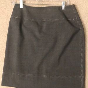 Grey skirt with pink stitching